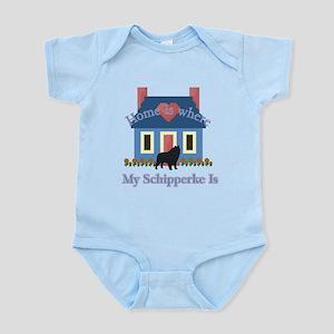 Schipperke Home Is Infant Bodysuit