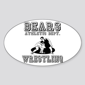 Bears Wrestling Oval Sticker