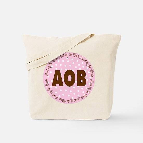 Polka Dot Bride's Aunt Tote Bag