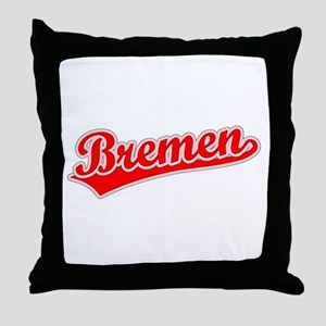 Retro Bremen (Red) Throw Pillow