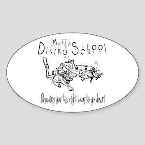 Diving School Oval Sticker