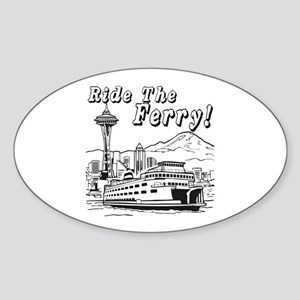 Ride the Ferry Oval Sticker
