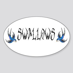 Swallows Oval Sticker
