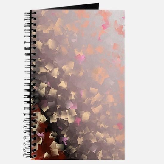 rose metal shiny checks Journal