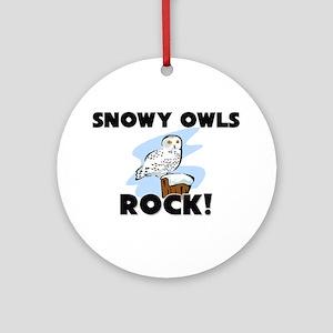 Snowy Owls Rock! Ornament (Round)