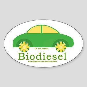 Biodiesel Car Oval Sticker