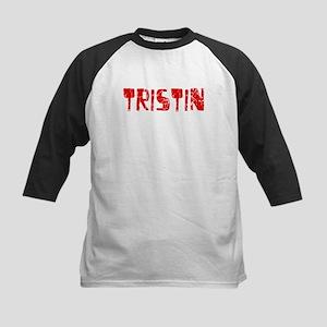 Tristin Faded (Red) Kids Baseball Jersey