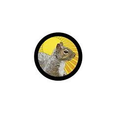 Pop Art Squirrel Mini Button (10 pack)