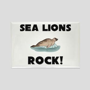 Sea Lions Rock! Rectangle Magnet