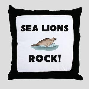 Sea Lions Rock! Throw Pillow