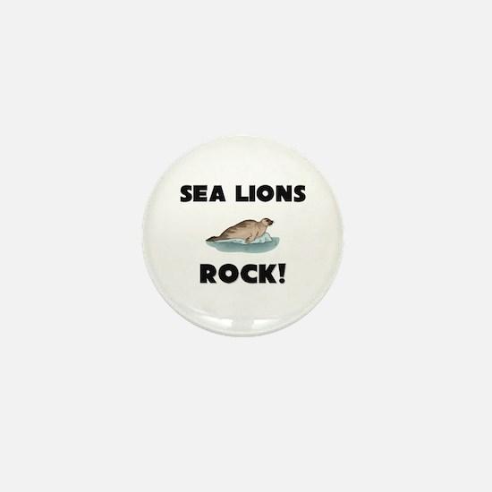 Sea Lions Rock! Mini Button