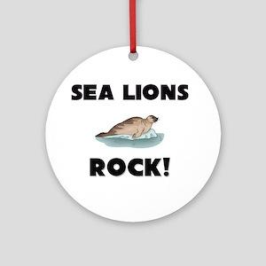 Sea Lions Rock! Ornament (Round)