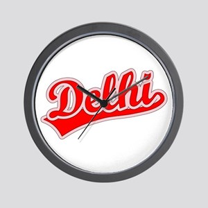 Retro Delhi (Red) Wall Clock