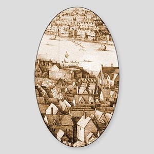 The Globe Theatre Oval Sticker
