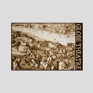 The Globe Theatre Rectangle Magnet