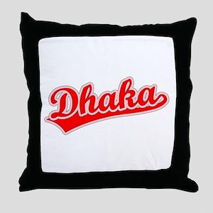 Retro Dhaka (Red) Throw Pillow