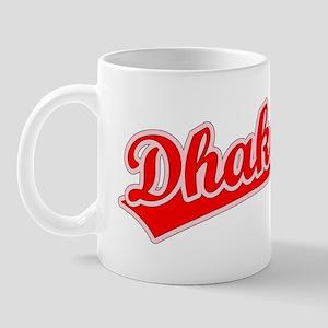 Retro Dhaka (Red) Mug