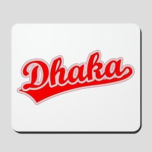 Retro Dhaka (Red) Mousepad