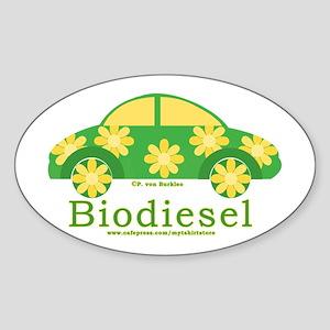 Cute Biodiesel Car Oval Sticker