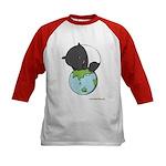Kids Baseball Jersey: 'Tapir on World'