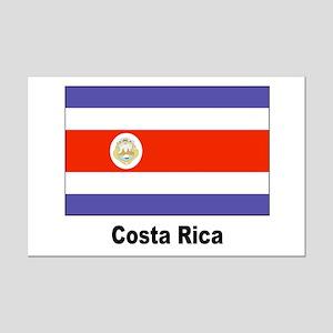 Costa Rica Flag Mini Poster Print