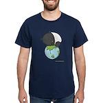 Dark T-Shirt: 'Tapir on World'