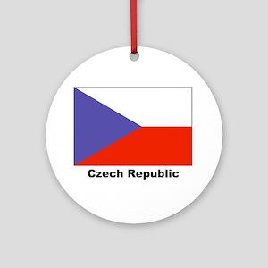 Czech Republic Flag Keepsake (Round)