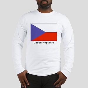 Czech Republic Flag (Front) Long Sleeve T-Shirt