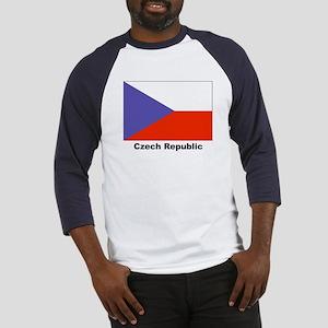 Czech Republic Flag (Front) Baseball Jersey
