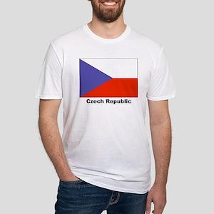 Czech Republic Flag (Front) Fitted T-Shirt