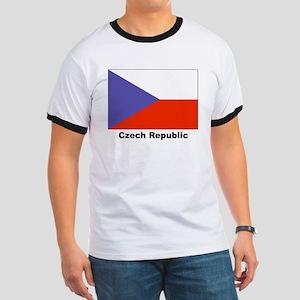 Czech Republic Flag (Front) Ringer T