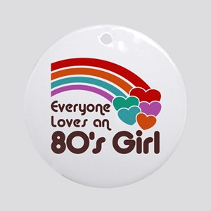 80's Girl Ornament (Round)