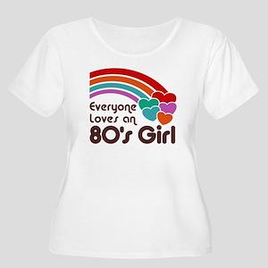 80's Girl Women's Plus Size Scoop Neck T-Shirt