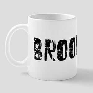 Brookings Faded (Black) Mug