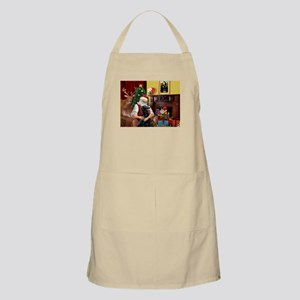 Santa's Flat Coated Retriever BBQ Apron