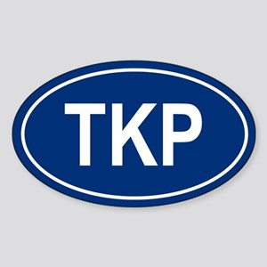 TKP Oval Sticker