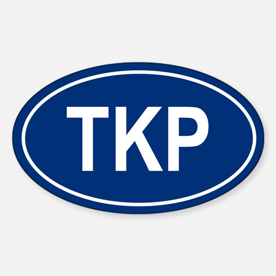 TKP Oval Decal