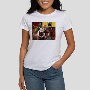 Santa's Flat Coated Retriever Women's T-Shirt