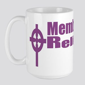 Religious Left /Purple Anti-Bush Agenda Large Mug
