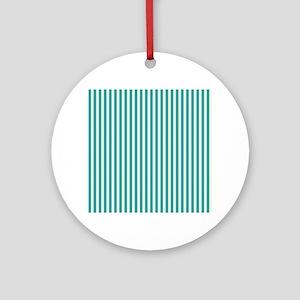 Emerald Green Striped Comtemporary Round Ornament