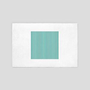 Emerald Green Striped Comtemporary Dec 4' x 6' Rug