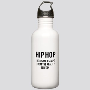 Hip Hop Helps me escap Stainless Water Bottle 1.0L