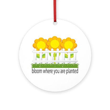 Garden Blooms Ornament (Round)