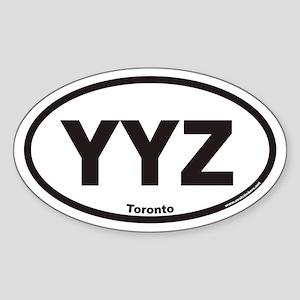 YYZ Toronto Canada Airport Code Euro Oval Sticker