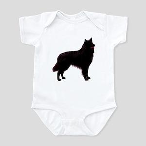 Black Belgian Shepherd Infant Bodysuit