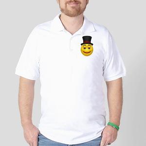 Top Hat Happy Face Golf Shirt