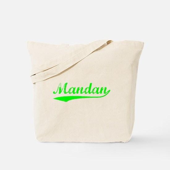 Vintage Mandan (Green) Tote Bag