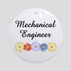Mechanical Engineer Asters Ornament (Round)