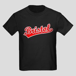 Retro Bristol (Red) Kids Dark T-Shirt