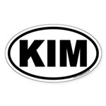 KIM Euro Oval Sticker